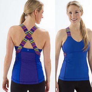 Lululemon | Push Your Limit Tank Wish Blue Stripe